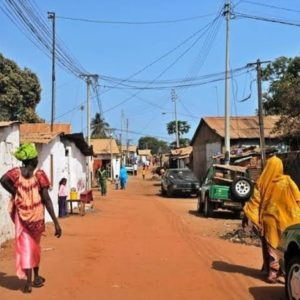 street in Gambia