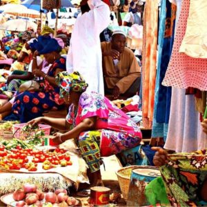 Local Vegetable market in Gambia