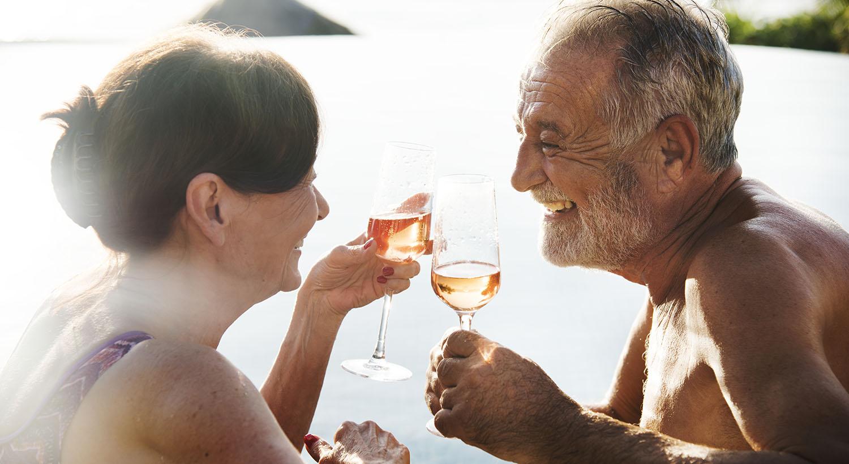 A Happy Couple Enjoying Summertime