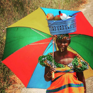 Woman from Gambia with Umbrella