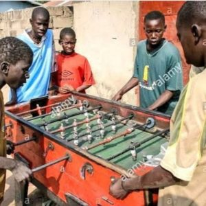 people playing in gambia