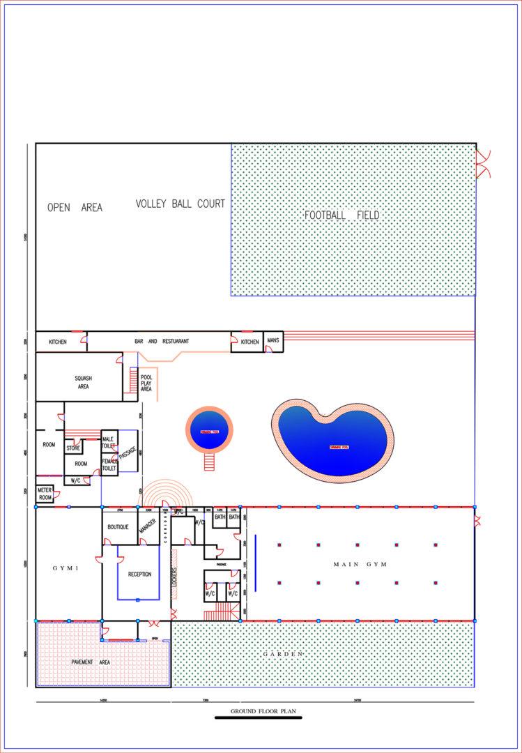 Ground floor -  main building + total plot