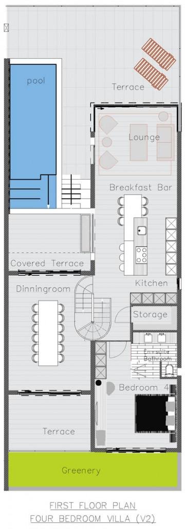 Villa first floor