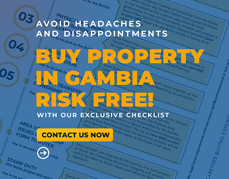 Buy property in gambia risk free