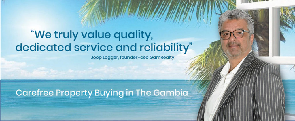 GamRealty homepage banner Gambia Real Estate